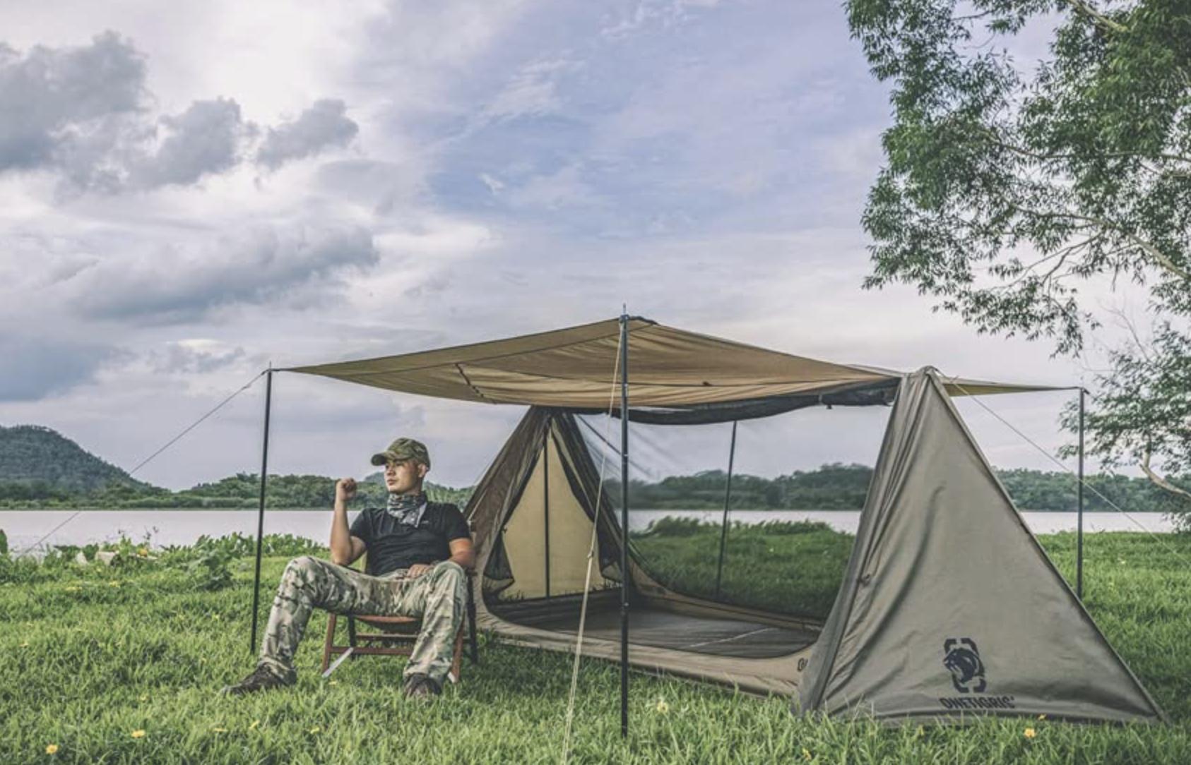 ワンティグリスのテントを使った風景の写真